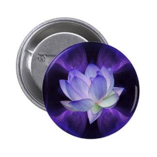 Purple Lotus and sacred geometry Button