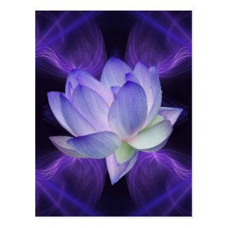 Purple Lotus and sacred geometry Postcard