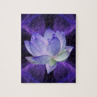 Purple Lotus and sacred geometry Puzzle