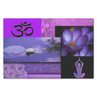 Purple Lotus & Crown Chakra Meditation Collage Tissue Paper