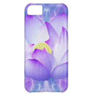 Purple lotus flower and fractal crystals iPhone 5C covers