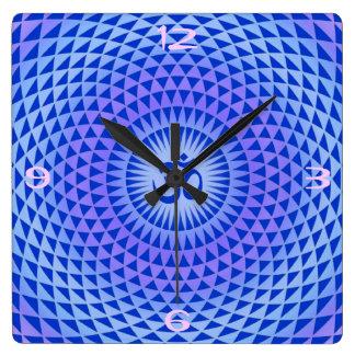 Purple Lotus flower meditation wheel OM Wallclocks