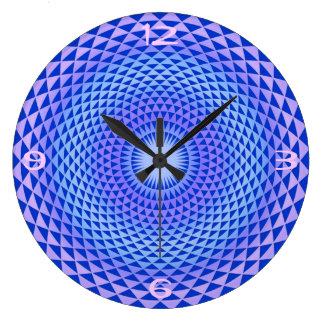 Purple Lotus flower meditation wheel OM Clocks