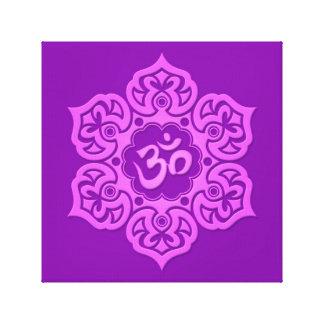 Purple Lotus Flower Om Gallery Wrap Canvas