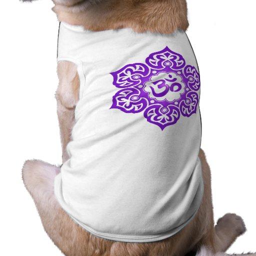 Purple Lotus Flower Om Dog Clothes