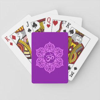 Purple Lotus Flower Om Playing Cards