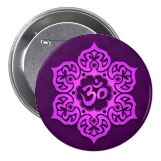 Purple Lotus Flower Om Pins