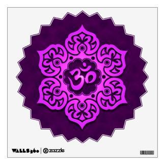 Purple Lotus Flower Om Wall Decal