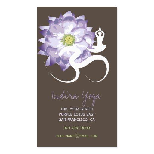 Purple Lotus Flower Yoga Om Zen Business Card