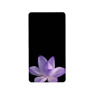 Purple Lotus Light on Black