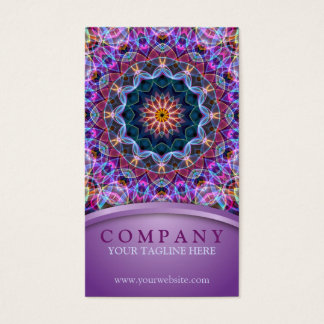 Purple Lotus Mandala Business Card