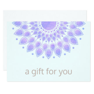 Purple Lotus Mandala Salon Spa Gift Certificate Card