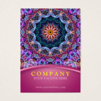 Purple Lotus Mandala with pink chubby Business Card