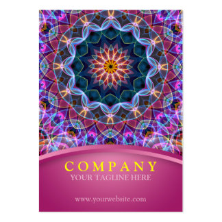 Purple Lotus Mandala with pink chubby Pack Of Chubby Business Cards