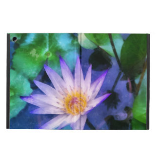 Purple Lotus Watercolor Case For iPad Air