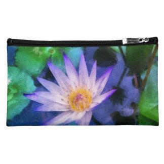 Purple Lotus Watercolor Cosmetic Bag