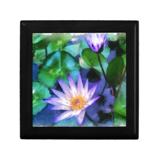 Purple Lotus Watercolor Gift Box