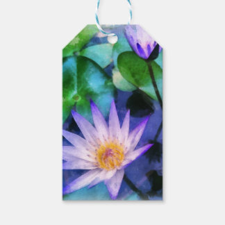 Purple Lotus Watercolor Gift Tags