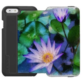 Purple Lotus Watercolor Incipio Watson™ iPhone 6 Wallet Case