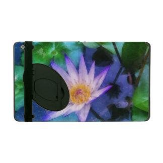 Purple Lotus Watercolor iPad Cover
