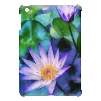 Purple Lotus Watercolor iPad Mini Cover