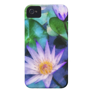 Purple Lotus Watercolor iPhone 4 Case