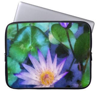 Purple Lotus Watercolor Laptop Sleeve