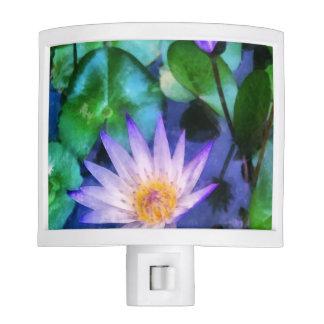 Purple Lotus Watercolor Night Light