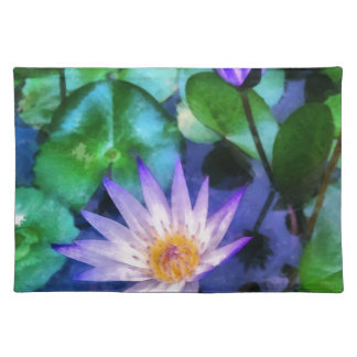 Purple Lotus Watercolor Placemat