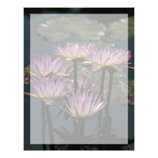 Purple Lotus Waterlilies Letterhead