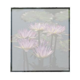 Purple Lotus Waterlilies Notepad