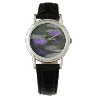 Purple Lotus Waterlilies Watch