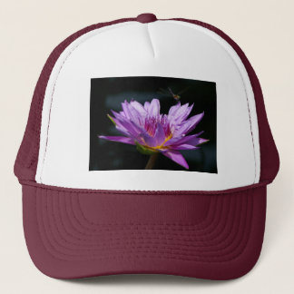 Purple Lotus Waterlily and Dragonfly Hat