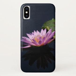 Purple Lotus Waterlily iPhone X Case