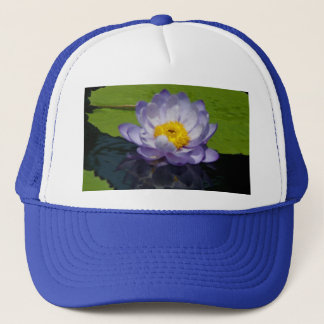 Purple Lotus Waterlily & Lily Pads Hat