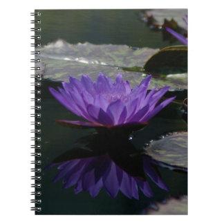 Purple Lotus Waterlily Notebook