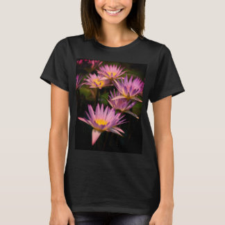 Purple Lotus Waterlily T Shirt