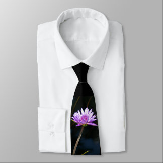 Purple Lotus Waterlily Tie