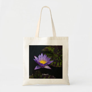 Purple Lotus Waterlily tote bag