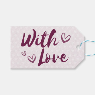 Purple Love And Lavender Hearts - Wedding, Party Gift Tags