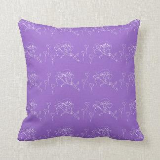 Purple Love Balloons Boy Balloon Pop Hearts Throw Pillow