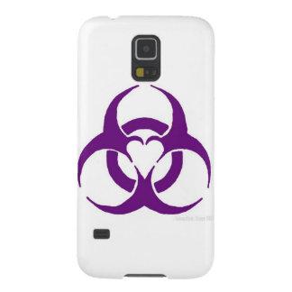 Purple love biohazard galaxy s5 cases
