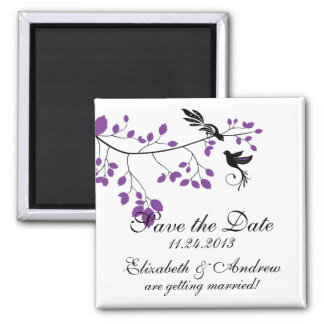 Purple Love Bird  Save The Date Announcements Magnet