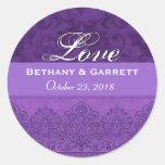 Purple Love Bride and Groom Date F202