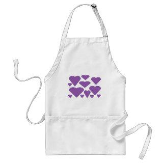 Purple Love Hearts Standard Apron