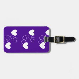 Purple love Luggage Tag by DAL