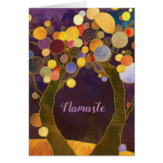 Purple Love Trees Business Thank You Blank Card