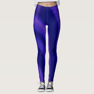 Purple Lovers Abstract Design Leggings