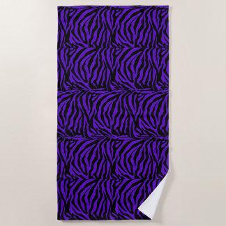 Purple Lovers Exotic Zebra Stripe Animal Print Beach Towel