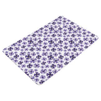Purple Lucky Shamrock Clover Floor Mat